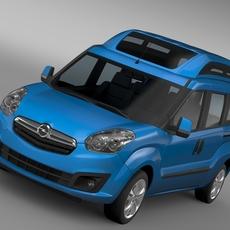 Opel Combo Tour High Roof LWB (D) 2015 3D Model