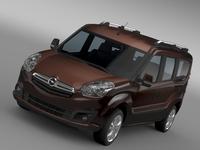 Opel Combo Tour LWB (D) 2015 3D Model