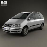 Volkswagen Sharan 2004 3D Model