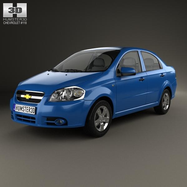 Chevrolet Aveo (T250) sedan 2006 3D Model
