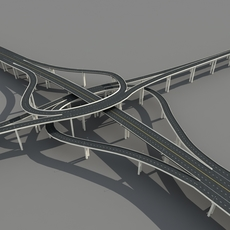 Highway viaduct 3D Model