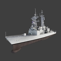 KeeLung Class Destroyer 3D Model