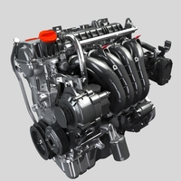 Mitsubishi Engine 3D Model