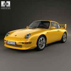 Porsche 911 Carrera RS Clubsport (993) 1995 3D Model