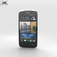 HTC Desire 500 Silver 3D Model