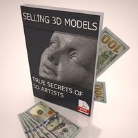 SELLING 3D M0DELS - True Secrets of 3D Artists book dollar banknotes 3D Model