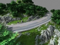 Mountain road 3D Model