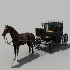 Carriage_and_Horse_02 3D Model