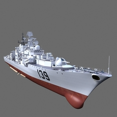 Chinese Navy Modern Destroyers 139 3D Model