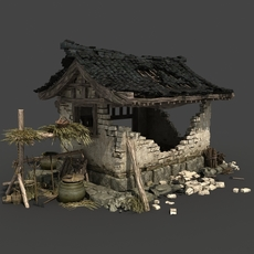 Chinese Broken house 3D Model