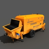 Concrete Pump 3D Model