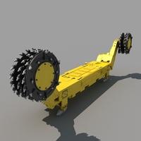 Coal Mining Drill Rig 01 3D Model