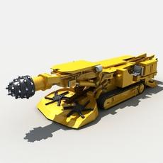 Coal Mining Drill Rig 02 3D Model