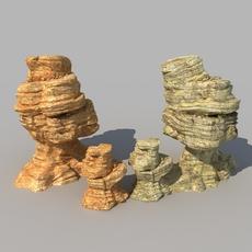 Desert Rock 01 3D Model