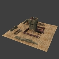 Desert Guard Tower 3D Model