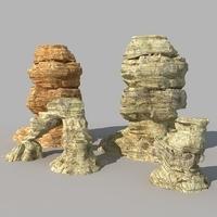 Desert Rock 02 3D Model