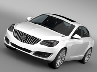 Buick Regal 2015 3D Model