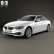 BMW 4 Series (F33) convertible Luxury Line 2013 3D Model