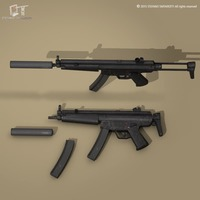 MP5 rifle 3D Model