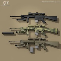 Mk12 sniper rifle 3D Model