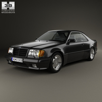 Mercedes-Benz E-class AMG widebody coupe 1988 3D Model
