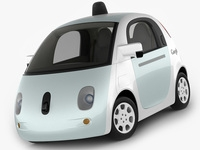 Google Self-Driving Car 3D Model