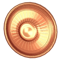 Round shield with sun image 3D Model