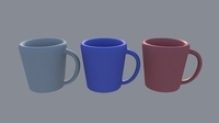 Free Coffee Mug Model (Untextured) for Maya 10.10.5