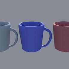(1) Basic Coffee Mug (Un-Textured) for Maya 10.10.5