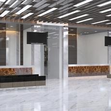 3d Hospital Hall  Interior 3D Model