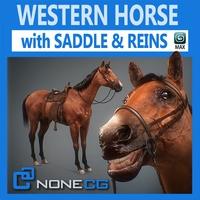 Western Horse 3D Model