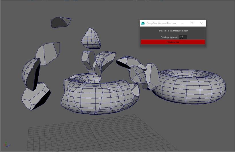 nSoupFrac Voronoi Fracture for Maya