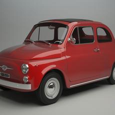 Fiat 500 F 1965 3D Model