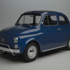 Fiat 500 L 1970 3D Model