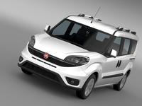 Fiat Doblo 263 UK spec 2015 3D Model