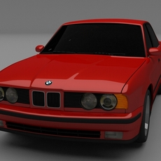 5 Series BMW E34 3D Model
