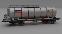 CFR train tanker car 3D Model