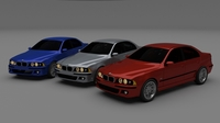5 Series BMW E39 3D Model