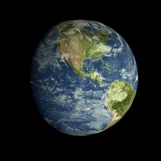Animated Realistic HD Earth Model 3D Model