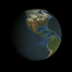 Animated HD Earth Model 3D Model