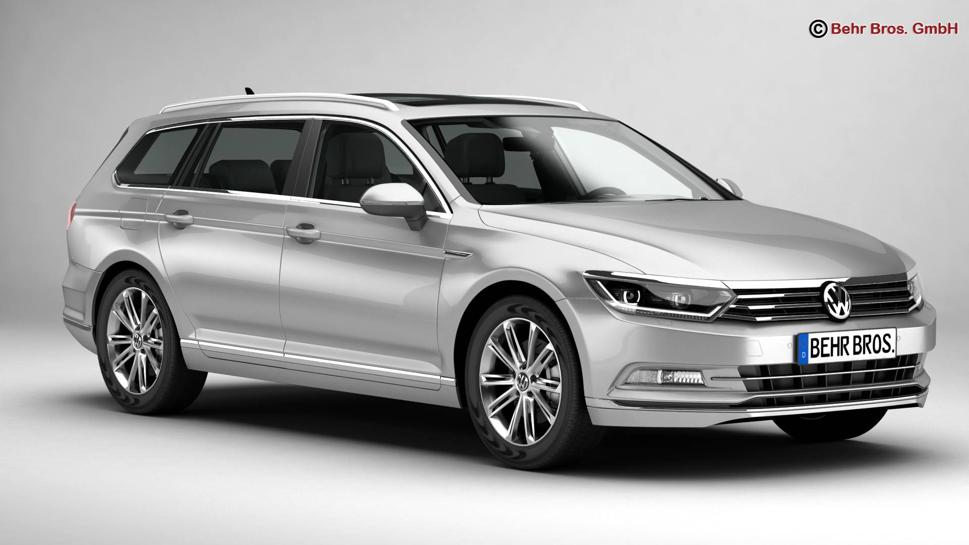 volkswagen passat variant 2015 3d model. Black Bedroom Furniture Sets. Home Design Ideas