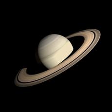 Animated HD Saturn Model 3D Model