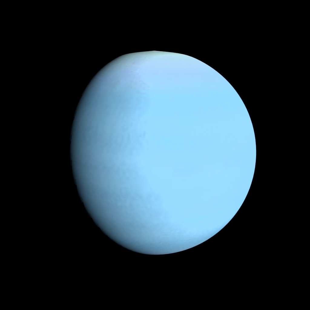 Animated Uranus Model 3D Model