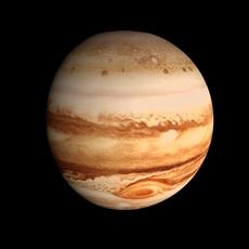 Animated HD Jupiter Model 3D Model