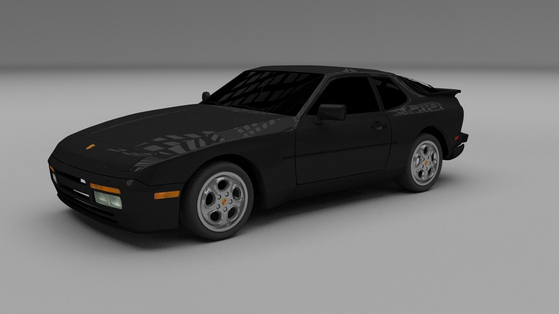 porsche 944 turbo 3d model. Black Bedroom Furniture Sets. Home Design Ideas