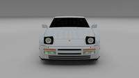 Porsche 944 S2 3D Model