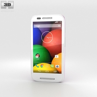 Motorola Moto E Violet & White 3D Model