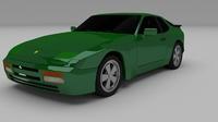 Porsche 944 924 3D Model