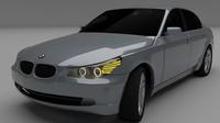 BMW E60 5 series 3D Model