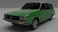 Renault 12 / Dacia 1300 estate 3D Model